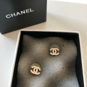 Chanel Crystal CC Earrings